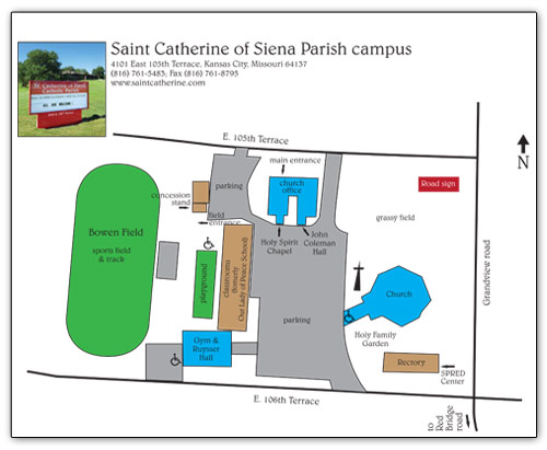 Holy Family Campus Map.Facilities St Catherine Of Siena Parish